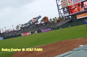 雨のAT&T球場